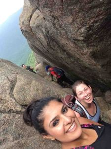 Sireen and I conquering Old Rag.