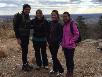 The crew for this hike: Sireen, me, Gigi, and Tippa