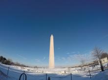 The Washington Monument up close.