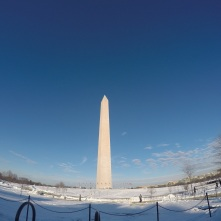 The Washington Monument up close.