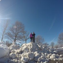 King and queen of the snowbank.