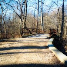 Boundary Bridge spanning the border between DC and Maryland.