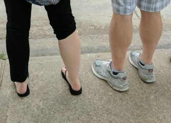 My Dad is the standard-bearer, but my calves do all right.